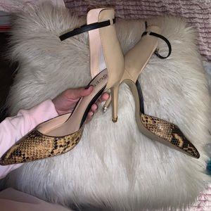 GUESS Snakeskin Heels